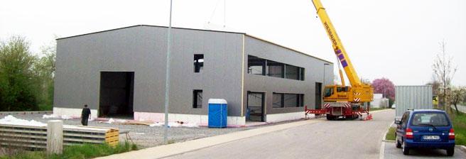 Neubau Lagerhalle mit Bürotrakt