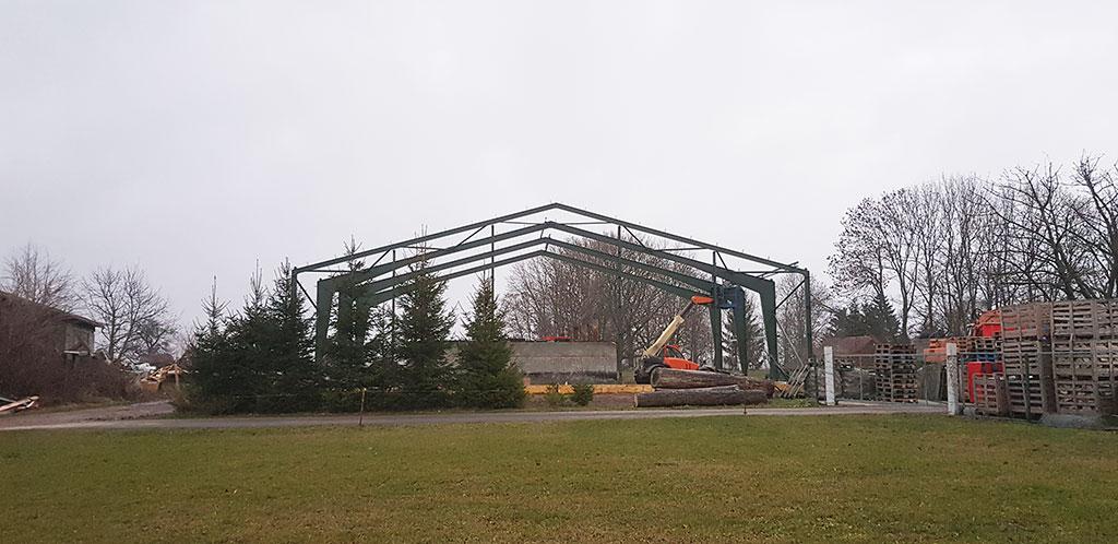 Reithalle : 22,05 x 41,05 x 4,99m – 15° Dachneigung lieferbar